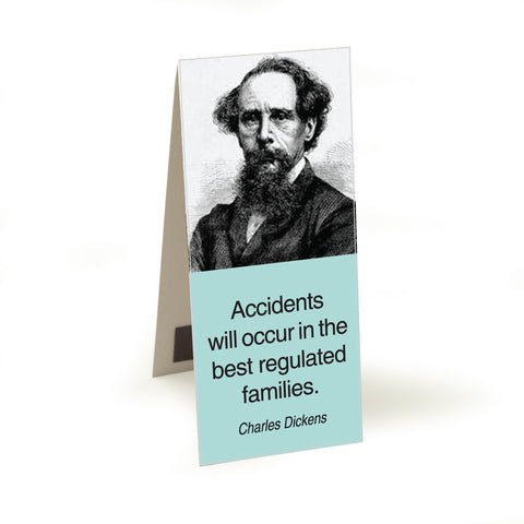 Dickens - accidents will occur  Magnetic Bookmark<br>(Pack of 10)