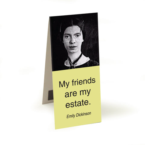 Dickinson - my friends are my estate  Magnetic Bookmark<br>(Pack of 10)