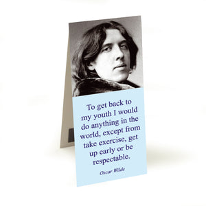Wilde - to get back my youth  Magnetic Bookmark<br>(Pack of 20)