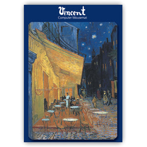Cafe Terrace at Night Mousemat<br>(Pack of 5)