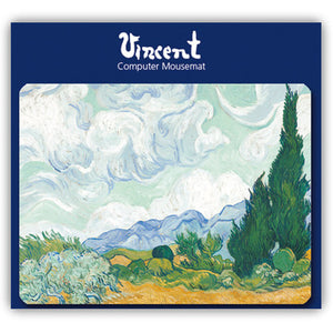 Wheatfield with Cypresses Mousemat<br>(Pack of 5)