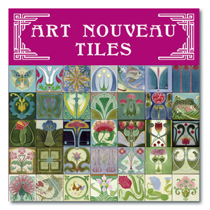 Art Nouveau Tiles Magnet Set<br>(Pack of 5)