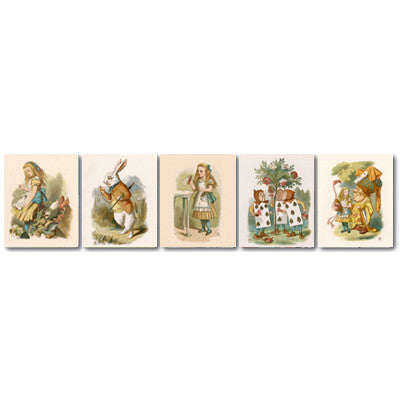 Alice in Wonderland Magnet Strip of 5<br>(Pack of 5)