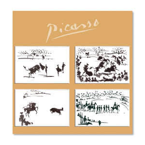 Bullfighting Scene - Set of 4 Magnets<br>(Pack of 5)