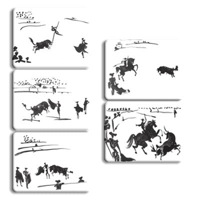 Bullfighter Magnet strip of 5<br>(Pack of 5)