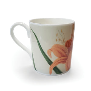 Orange Day Lily - Bone China Mug<br>(Pack of 6)