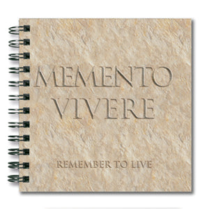 Memento Vivere (Remember to Live) Spiral Notebook<br>(Pack of 10)