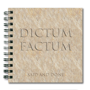 Dictum Factum (Said and Done) Spiral Notebook<br>(Pack of 10)