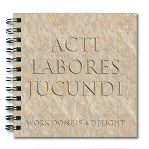 Acti Labores Jucundi (Work Done is a Delight) Spiral Notebook<br>(Pack of 10)