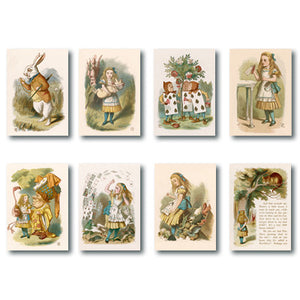 Alice in Wonderland Mini Notecard Set<br>(Pack of 10)
