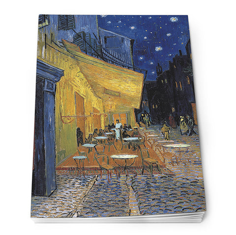 Cafe Terrace at Night Notepad<br>(Pack of 10)