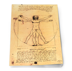 Vitruvian Man Notepad A6<br>(Pack of 10)