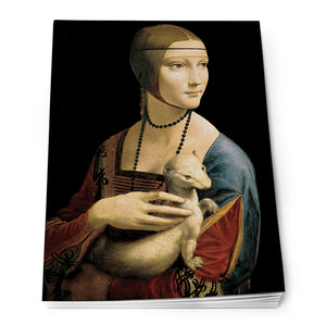 Lady with an Ermine Notepad A6<br>(Pack of 10)