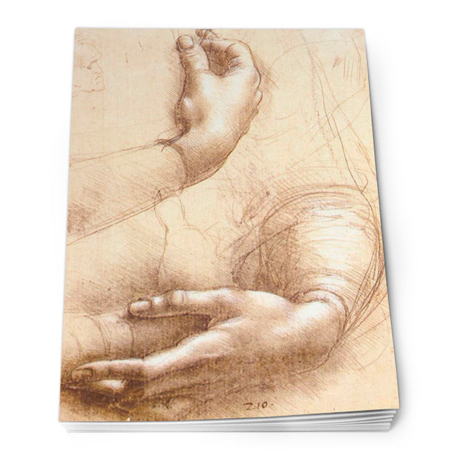 Study of Hands Notepad A6<br>(Pack of 10)