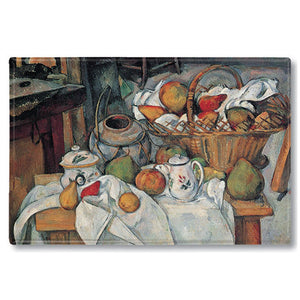 Still Life with Fruit Basket Fridge Magnet<br>(Pack of 10)