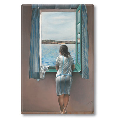 Girl at the Window, 1925 Fridge Magnet<br>(Pack of 10)