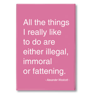 Woolcott - all the things I really like Fridge Magnet<br>(Pack of 10)
