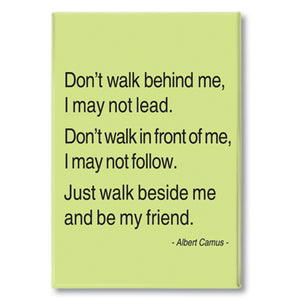 Camus - don't walk behind me Fridge Magnet<br>(Pack of 10)