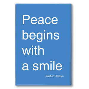 Mother Theresa - peace begins Fridge Magnet<br>(Pack of 10)