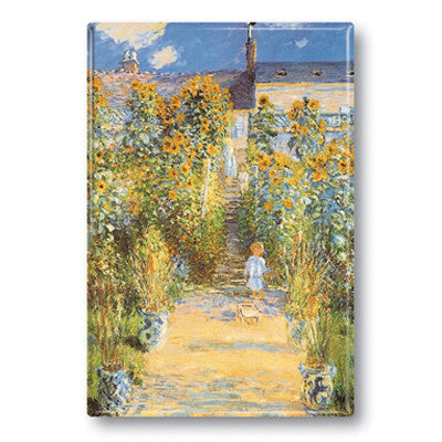 The Artist's Garden at Vetheuil Fridge Magnet<br>(Pack of 10)