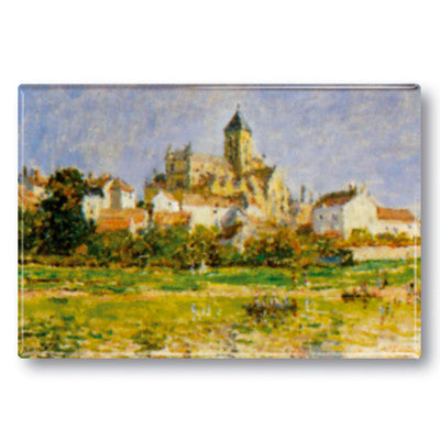 Church at Vetheuil Fridge Magnet<br>(Pack of 10)
