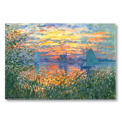 Sunset on the Seine Fridge Magnet<br>(Pack of 10)