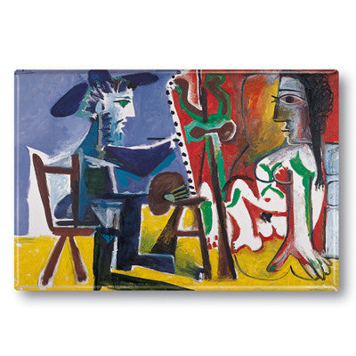 El pintor y la Modelo Fridge Magnet<br>(Pack of 10)