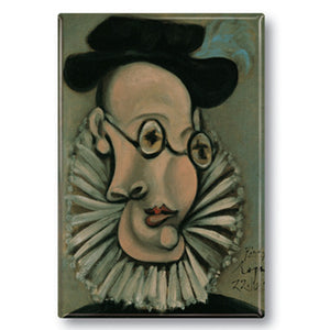 Portrait of Jaume Sabartí©s with ruff and hat, 1939 Fridge Magnet<br>(Pack of 10)