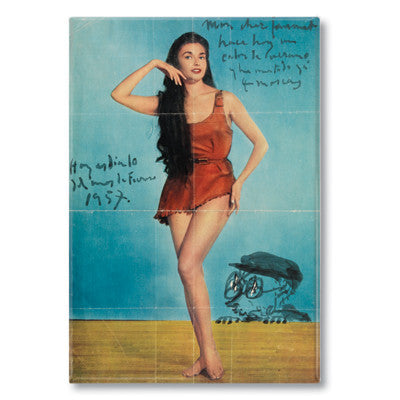 Una Pin Up 3 Fridge Magnet<br>(Pack of 10)