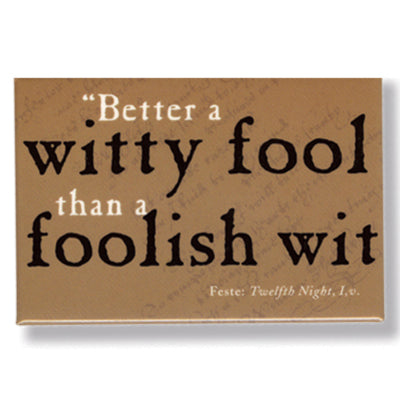 Witty Fool Fridge Magnet<br>(Pack of 10)