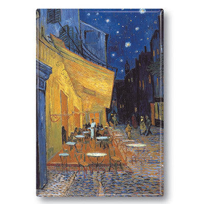 Cafe Terrace at Night Fridge Magnet<br>(Pack of 10)