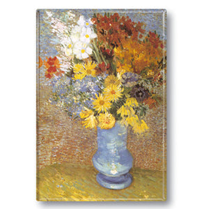 Flowers in a Blue Vase Fridge Magnet<br>(Pack of 10)