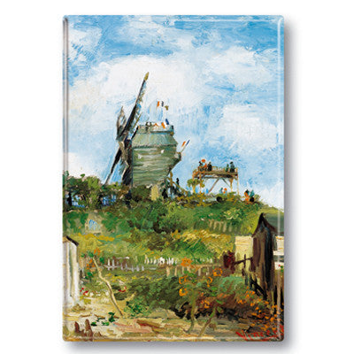 The Blute Fin Windmill, Montmartre Fridge Magnet<br>(Pack of 10)