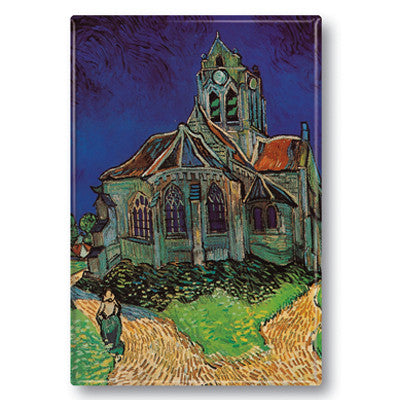 Church at Auvers Fridge Magnet<br>(Pack of 10)
