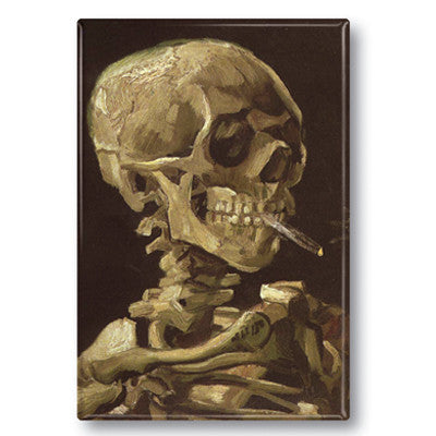 Smoking Skull Fridge Magnet<br>(Pack of 10)