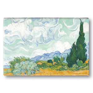 Wheatfield with Cypresses Fridge Magnet<br>(Pack of 10)
