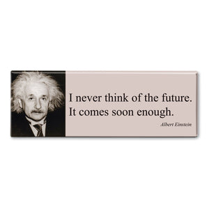Einstein - I Never Think of the Future Fridge Magnet<br>(Pack of 10)