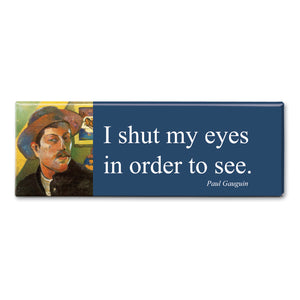 Gauguin - I Shut my Eyes in order to See Fridge Magnet<br>(Pack of 10)