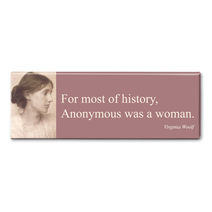 Woolf - Anonymous was a Woman Fridge Magnet<br>(Pack of 10)