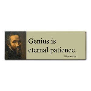 Michelangelo - Genius is Eternal Patience Fridge Magnet<br>(Pack of 10)