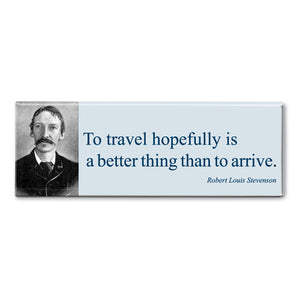 Stevenson - To Travel Hopefully Fridge Magnet<br>(Pack of 10)