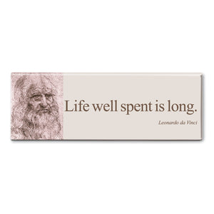 Da Vinci - Life Well Spent is Long Fridge Magnet<br>(Pack of 10)