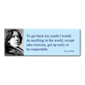 Wilde - To Get Back My Youth Fridge Magnet<br>(Pack of 10)