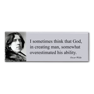 Wilde - I Sometimes Think That God Fridge Magnet<br>(Pack of 10)