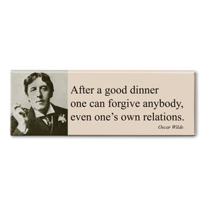 Wilde - After a Good Dinner Fridge Magnet<br>(Pack of 10)