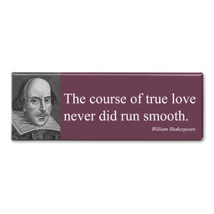 Shakespeare - The Course of True Love Fridge Magnet<br>(Pack of 10)