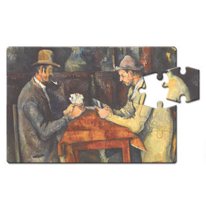 The Card Players Puzzle Postcard<br>(Pack of 10)