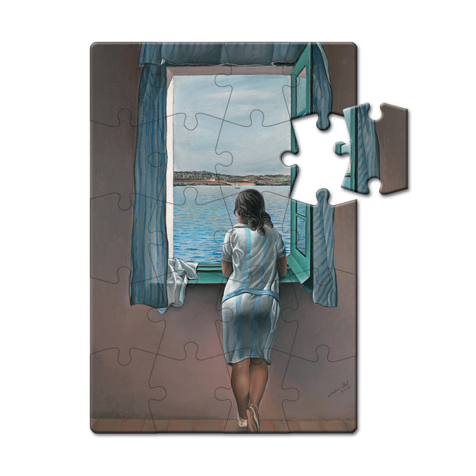 Girl at the Window, 1925 Puzzle Postcard<br>(Pack of 10)
