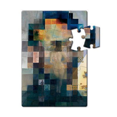 Gala Nude Looking at the sea... President Lincoln, 1975 Puzzle Postcard<br>(Pack of 10)