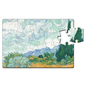 Wheatfield with Cypresses Puzzle Postcard<br>(Pack of 10)